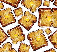 Buttered toast by Kelly  Gilleran
