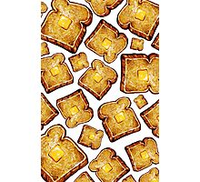 Buttered toast Photographic Print
