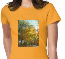 Brilliant Colors in Kingsland Pointe Park, Sleepy Hollow NY Womens Fitted T-Shirt
