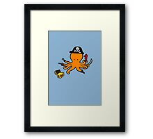 Pirate Octopus Framed Print
