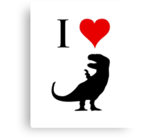 I Love Dinosaurs (small) Canvas Print