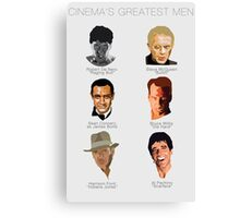 Cinema's Greatest Men Canvas Print