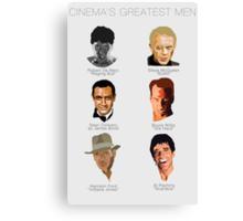 Cinema's Greatest Men Canvas Print