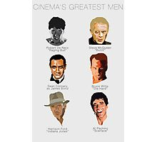 Cinema's Greatest Men Photographic Print