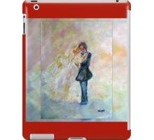 Floral Heart Designer Art Gifts - Dark Red iPad Case/Skin