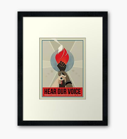 women's march on washington high resolution poster Framed Print