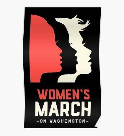 women's march on washington high resolution poster Poster