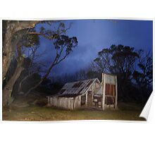 Wallace's Hut - Night Poster