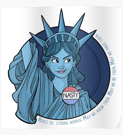 Nasty Lady Liberty Poster