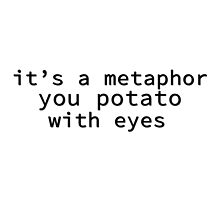It's A Metaphor, You Potato With Eyes by Zanthie