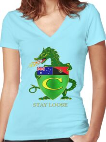 Stay Loose Women's Fitted V-Neck T-Shirt