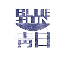 Blue Sun Vintage Style Shirt (Firefly/Serenity) Photographic Print