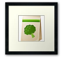 Glitch Seeds seed broccoli Framed Print