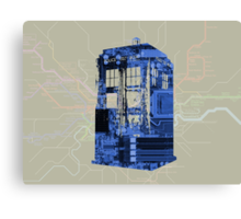 Tech Tardis Canvas Print