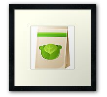 Glitch Seeds seed cabbage Framed Print