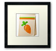 Glitch Seeds seed carrot Framed Print
