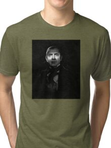 Bela Lugosi dracula - black and white digital painting Tri-blend T-Shirt