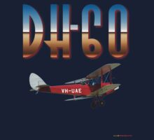 De Havilland DH-60 Moth VH-UAE T-shirt Design by muz2142