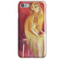 Sitting girl (ragazza seduta) iPhone Case/Skin