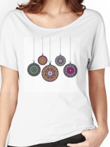 Christmas Mandala Bolls. Merry Christmas and Happy New Year Women's Relaxed Fit T-Shirt