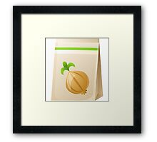 Glitch Seeds seed onion Framed Print