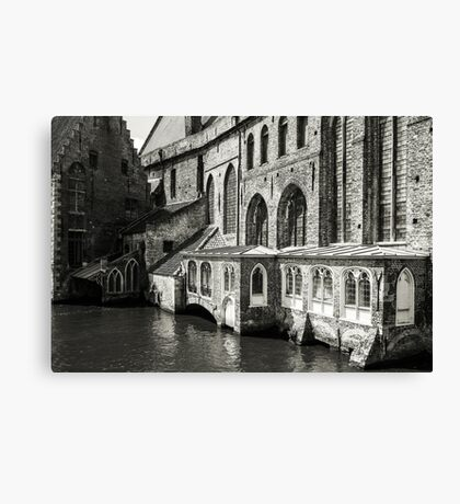 Medieval Architecture on the Canal - Bruges Canvas Print