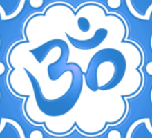 Blue Lotus Flower Yoga Om Sticker