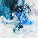 Abstract Waves Painting - Minimalist Seascape Art by Deniz Akerman