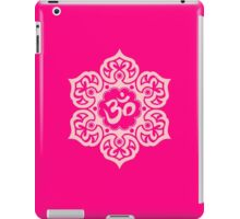 Pink Lotus Flower Yoga Om iPad Case/Skin
