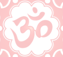 Pink Lotus Flower Yoga Om Sticker