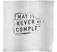 [ NEVER BE COMPLF       ] II Poster