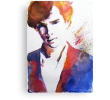 Sherlock - Splash of Colour Metal Print
