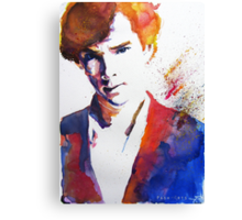 Sherlock - Splash of Colour Canvas Print