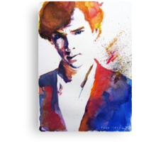 Sherlock - Splash of Colour Canvas Print
