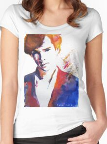 Sherlock - Splash of Colour Women's Fitted Scoop T-Shirt