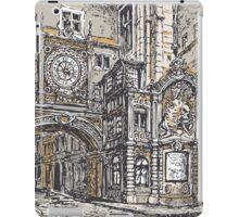 Vintage View of Gros Horloge street, Rouen iPad Case/Skin