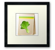Glitch Seeds seed spinach Framed Print