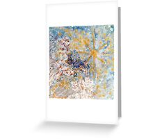 Bluebirds in the Snow White by Designer Marie-Jose Pappas Greeting Card