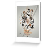 SPURS tribute - Parker Ginobili Duncan Greeting Card