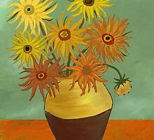 I love sunflowers by Núria Talavera