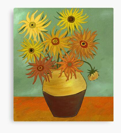 I love sunflowers Canvas Print