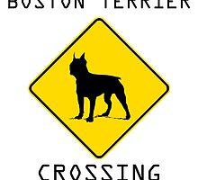 Boston Terrier Crossing by kwg2200