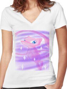 Pokemon! - Mew! Women's Fitted V-Neck T-Shirt