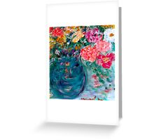 Romance Flowers Designer Decor & Gifts Greeting Card