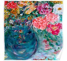 Romance Flowers Designer Decor & Gifts Poster