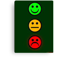 Smiley Traffic Lights - Green For Go Canvas Print