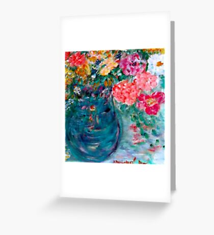 Romance Flowers Designer Art Decor & Gifts - Pink Greeting Card