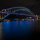 Sydney Harbour at night by karenanderson