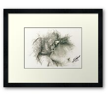 Lip Locked - Pencil Framed Print