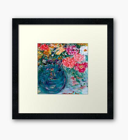 Romance Flowers Designer Art Decor & Gifts - Yellow Framed Print